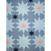 Tic Tac Toe Dress Blue Quilt fabric detail