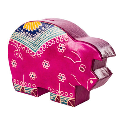 Embossed Leather Piggy Bank