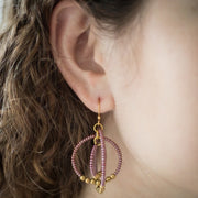 Brass Gyroscope Hoop Earrings - Wildflower lifestyle