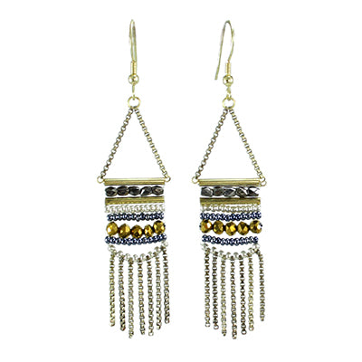 Fringed Twilight Earrings