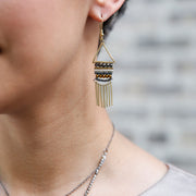 Fringed Twilight Earrings model