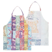 Eco Flour Sack Reversible Patchwork Apron backview