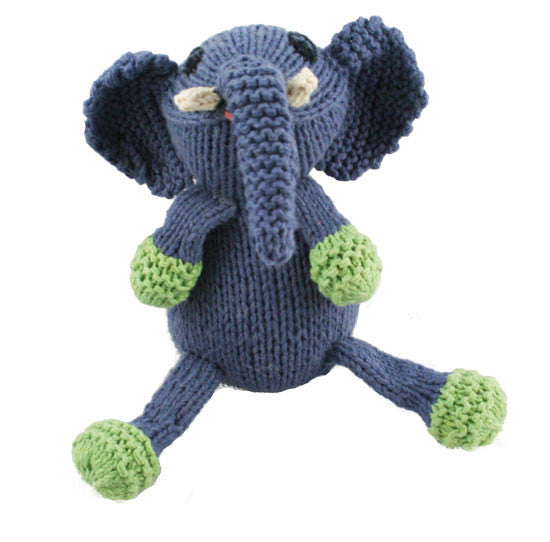 Hand-knit and Fair Trade Elephant Stuffed Animal Toy