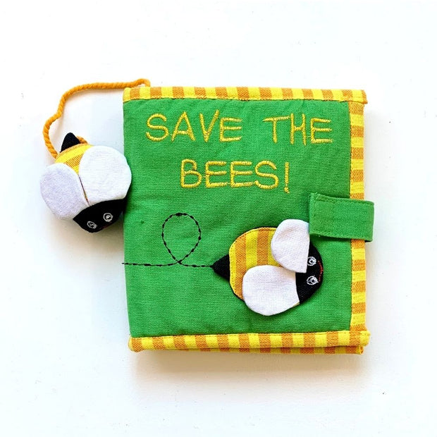 Fabric Kids Book - Save The Bees cover