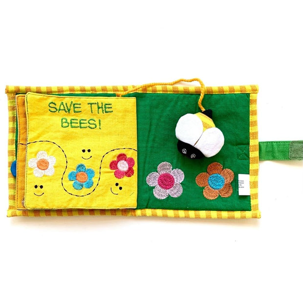 Fabric Kids Book - Save The Bees pages 5-6