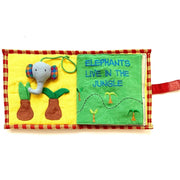 Fabric Kids Book - Save The Elephants pages 1-2
