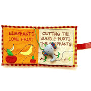 Fabric Kids Book - Save The Elephants pages 3-4