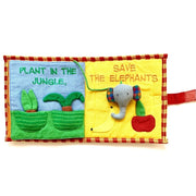 Fabric Kids Book - Save The Elephants pages 5-6
