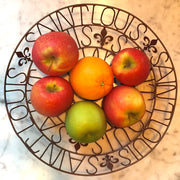 EXCLUSIVE Recycled Metal St Louis Bowl with fruit