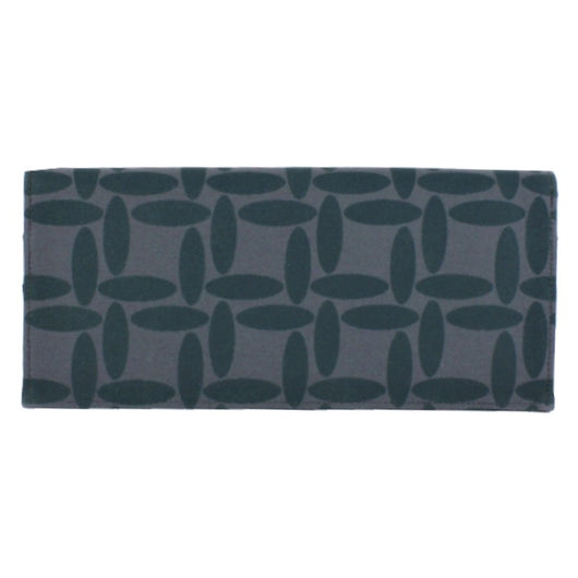 Screen Print Long Wallet - Dark Teal