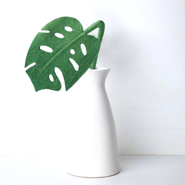 Felt Monstera Leaf Stem home decor