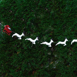 Felt Santa and White Reindeer Garland lifestyle