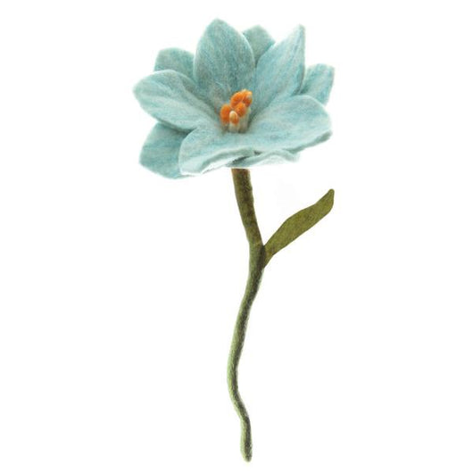 Felt Wildflower Stem Pale Blue