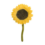 Handmade and Fair Trade Felt Flower Stem - Sunflower stem