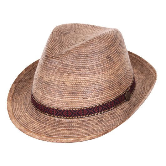 Fedora Multi Band Palm Leaf Hat angle view
