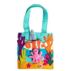 Handmade Felt Puppet Bag - Under the Sea