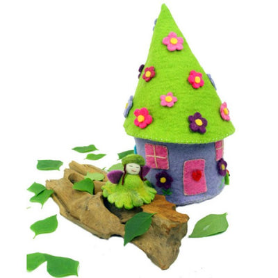 Handmade and Fair Trade Felted Fairy House for children