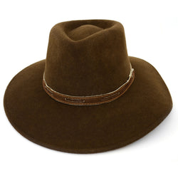 Brown Australia Style Felted Wool Hat