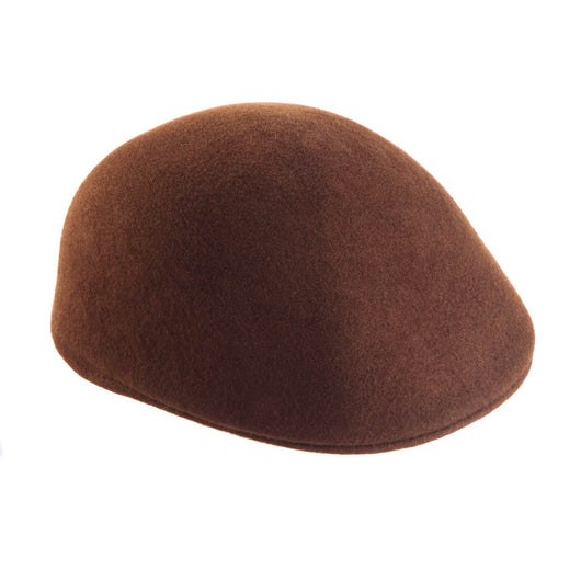 Felted Wool Flat Cap Brown