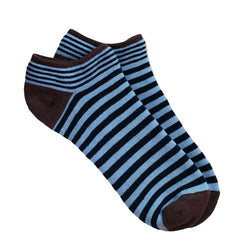 Organic Cotton Navy Blue Stripe Footie Sock