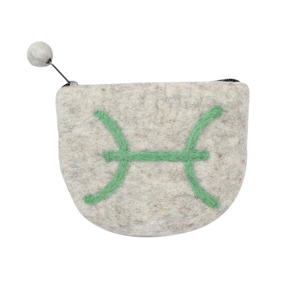 Zodiac Felt Clutch Purse