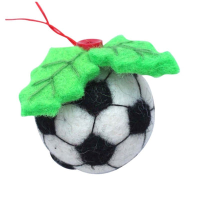 Soccer Ball Felt Ornament