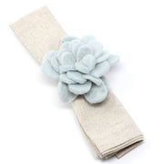 Felted Zinnias Napkin Rings - Set of 4 detail