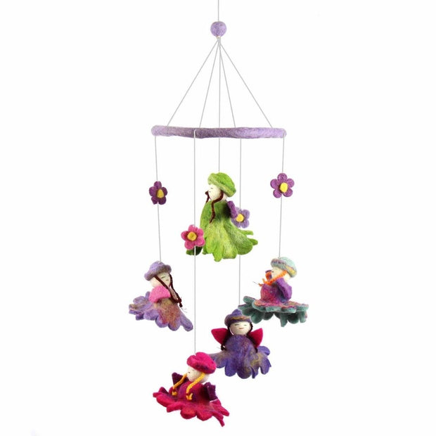 Felt Baby Mobile - Flower Fairies