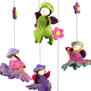 Felt Baby Mobile - Flower Fairies detail