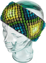 Geometric Rainbow Alpaca Blend Ear Warmers model