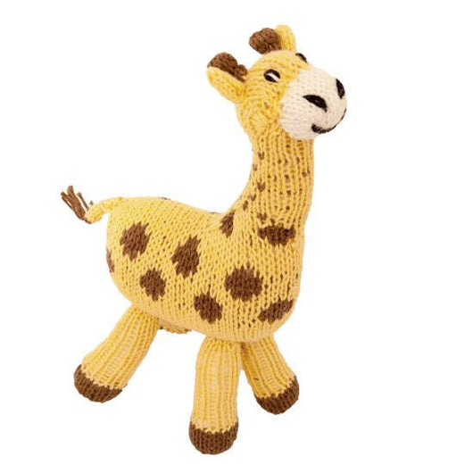 Hand-knit Giraffe Stuffed Animal Toy