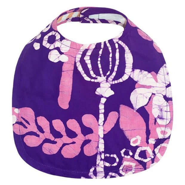 Hand-printed Batik Fabric Bib - Marina Purple