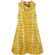 Fair Trade Batik Dress - Eli Monsoon Mustard by Global Mamas