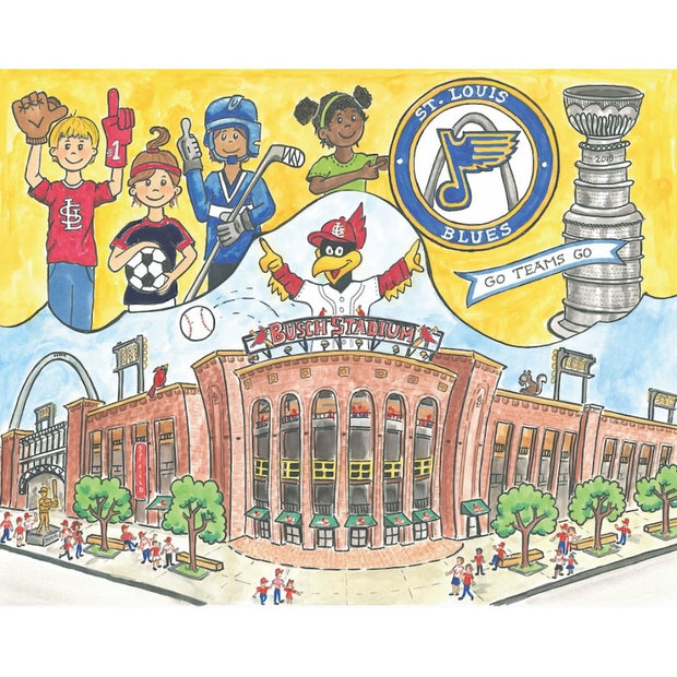 Goodnight St. Louis Hardcover Book Baseball Stadium