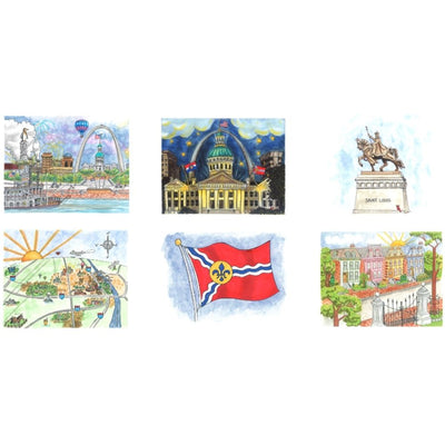 Set of Six Goodnight St. Louis Note Cards Series 1