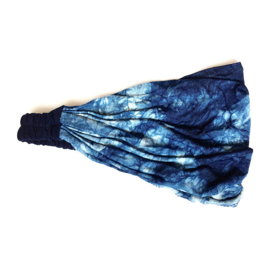 Indigo Reflections Wide Yoga Headband