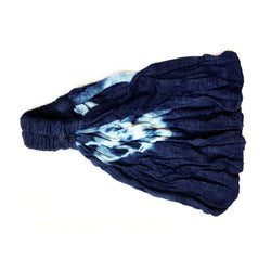 Indigo Blossom Lace Wide Yoga Headband
