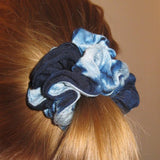 Indigo Scrunchie Ponytail Holder model