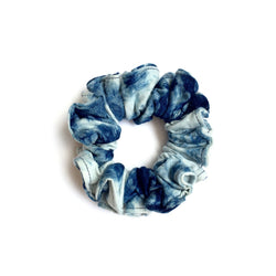 Indigo Scrunchie Ponytail Holder
