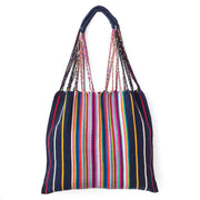 Chiapas Hammock Tote Bag - Navy Multi Stripe