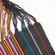 Chiapas Hammock Tote Bag - Grey Multi Stripe detail