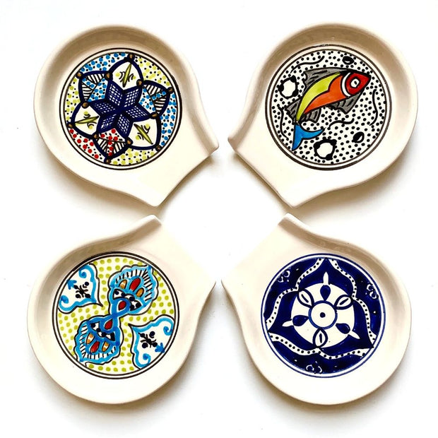 Hand-painted Ceramic Spoon Rest