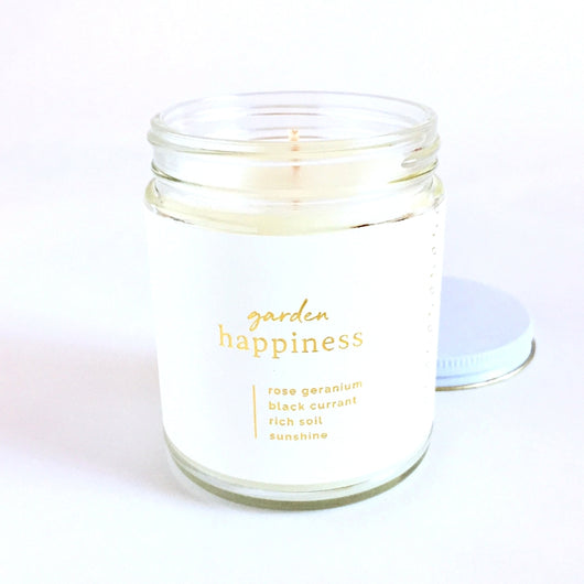 Happiness Candle 7oz Garden