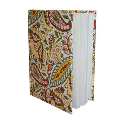 Paisley Design Hard Cover Journal with Unlined Pages