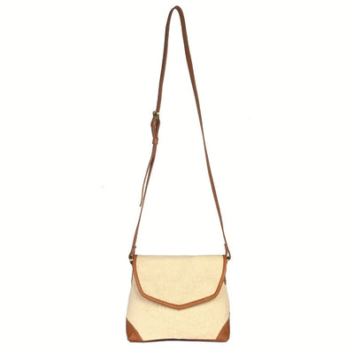 Havely Cotton and Leather Crossbody Bag