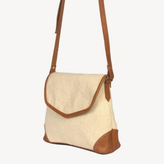 Havely Cotton and Leather Crossbody Bag sideview