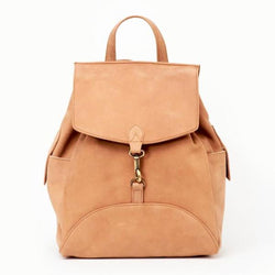 Himani Desert Rose Leather Backpack by JOYN India FRONT