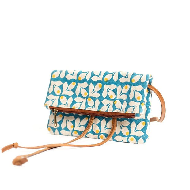 Hip Bag - Blue Print with Yellow Berries