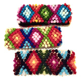 Geometric Rainbow Alpaca Blend Ear Warmers