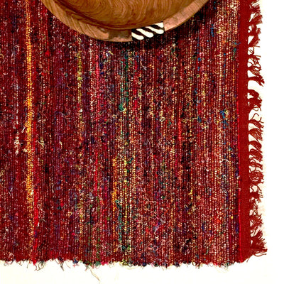 Recycled Silk Sari Placemat - Red